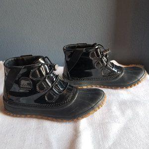SOREL Black Waterproof Duck Boots Rainboots Size 7